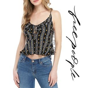 Free People Love To Ruffled Floral Printed cami